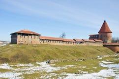 Castello medievale di Kaunas in Lituania Immagine Stock