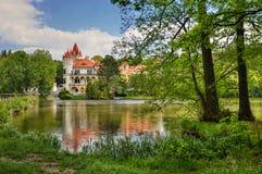 Castello sul lago Immagini Stock Libere da Diritti