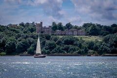 Castello sul mare Fotografia Stock Libera da Diritti