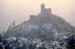 Castello sulla collina Fotografie Stock