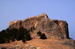 Castello sulla collina Fotografia Stock