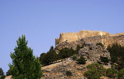 Castello sulla collina Fotografia Stock Libera da Diritti