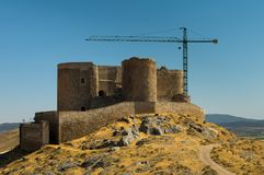 Castello sulla collina Fotografie Stock Libere da Diritti