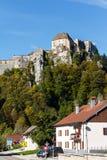 Castello sulla collina rocciosa Immagine Stock Libera da Diritti