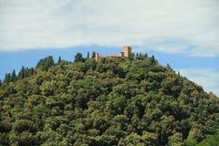 Castello sulla collina verde Fotografie Stock