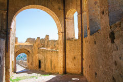 Castello svevo di Rocca Imperiale La Calabria L'Italia Immagine Stock Libera da Diritti