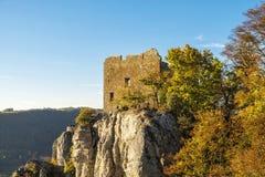Castello svevo Reussenstein delle alpi Fotografie Stock