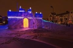 Castello Svezia della slitta del ghiaccio Immagini Stock Libere da Diritti