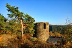 Castello Sychrov in Rabstejn nad Strelou fotografia stock