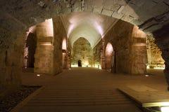 Castello templar del cavaliere di acro, Fotografie Stock Libere da Diritti