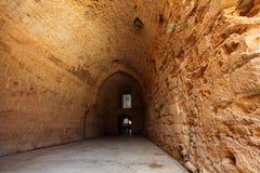 Castello templar del cavaliere di acro, Immagini Stock Libere da Diritti