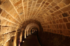 Castello templar del cavaliere di acro Fotografie Stock