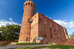 Castello Teutonic medioevale in Polonia Fotografia Stock Libera da Diritti