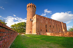 Castello Teutonic medioevale in Swiecie Immagini Stock Libere da Diritti