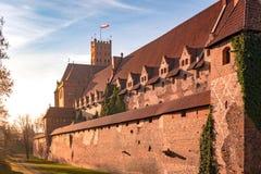 Castello teutonico dei cavalieri in Malbork fotografie stock