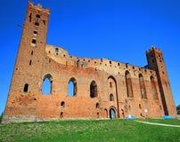 Castello teutonico medievale di ordine in Radzyn Chelminski, Polonia Immagine Stock Libera da Diritti