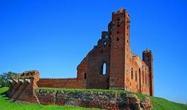 Castello teutonico medievale di ordine in Radzyn Chelminski, Polonia Immagini Stock Libere da Diritti