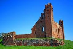 Castello teutonico medievale di ordine in Radzyn Chelminski, Polonia Fotografie Stock