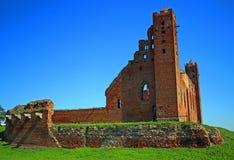 Castello teutonico medievale di ordine in Radzyn Chelminski, Polonia Fotografia Stock