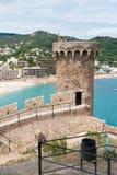 Castello in Tossa spagnolo de marzo Immagine Stock