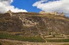 Castello Tourbillon, Sion, svizzero Fotografie Stock Libere da Diritti