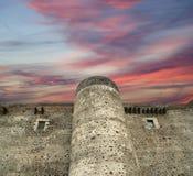 Castello Ursino是一座城堡在卡塔尼亚,西西里岛,南意大利 免版税库存照片