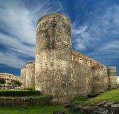 Castello Ursino是一座城堡在卡塔尼亚,西西里岛 免版税图库摄影