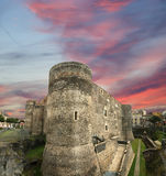 Castello Ursino是一座城堡在卡塔尼亚,西西里岛 库存照片