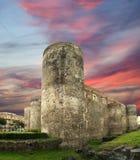 Castello Ursino是一座城堡在卡塔尼亚,西西里岛 免版税库存照片