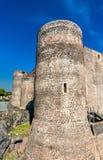 Castello Ursino, ένα μεσαιωνικό κάστρο στην Κατάνια, Σικελία, νότια Ιταλία Στοκ φωτογραφίες με δικαίωμα ελεύθερης χρήσης