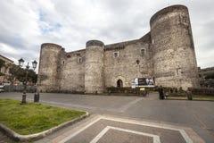 Castello Ursino 城堡在卡塔尼亚,西西里岛 意大利 免版税库存照片