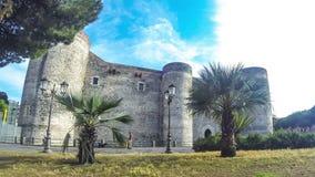 Castello Ursino in Catanië, Sicilië, Italië stock video