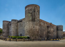 Castello Ursino Ursino Castle or Castello Svevo di Catania - Catania, Sicily, Italy. Castello Ursino Ursino Castle or Castello Svevo di Catania in Catania Royalty Free Stock Photography
