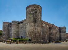 Castello Ursino Ursino Castle or Castello Svevo di Catania - Catania, Sicily, Italy Royalty Free Stock Photography