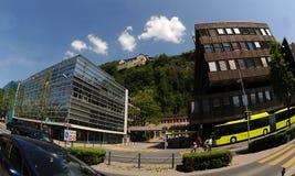 Castello Vaduz - vista dal centro Fotografia Stock Libera da Diritti