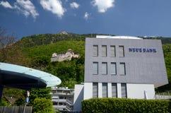 Castello Vaduz - vista dal centro Fotografia Stock
