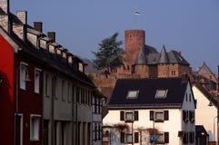 Castello in vecchia città tedesca Fotografia Stock Libera da Diritti