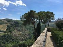 Castello Vicchiomaggio in Italia Fotografia Stock