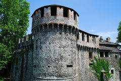 Castello Visconteo en Locarno, fortalecimientos Foto de archivo
