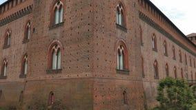 Castello Visconteo kasztel i swój pusta fosa, Pavia, PV, Włochy zbiory wideo