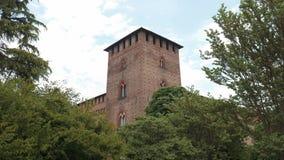 Castello Visconteo kasztelu wierza w Pavia, PV, Włochy zbiory wideo
