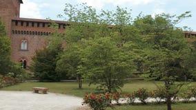 Castello Visconteo kasztelu ziemie w Pavia, PV, Włochy zbiory