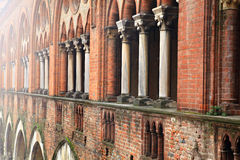 Castello Visconteo.Pavia. royaltyfria foton