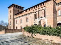 Castello Visconteo (Visconti-Schloss) in Pavia-Stadt stockfotografie