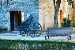 Castello and war cannon, Conegliano Veneto Royalty Free Stock Image