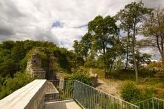 Castello Wartenbert nel villaggio Muttenz Immagini Stock Libere da Diritti