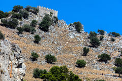 Castellodella Rocca in Cefalu, Sicilië, Italië Royalty-vrije Stock Foto's