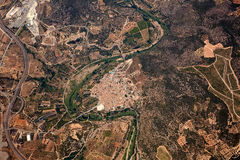 Castellon西班牙Sot de费勒Aerial村庄  免版税库存图片
