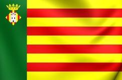 Castellon de la Plana City,西班牙旗子  库存例证