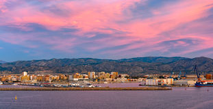 Castellon, Spain. Panoramic view of Castellon, Spain, from seaside Stock Photo